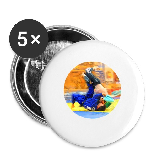 Sumi-gaeshi-Judowurf T-Shirts - Buttons groß 56 mm (5er Pack)