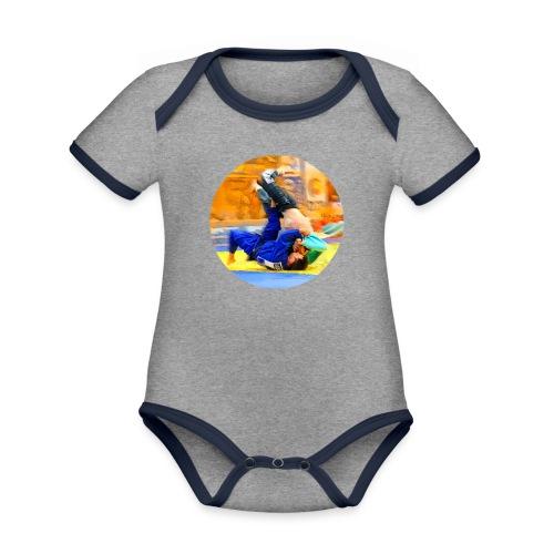 Sumi-gaeshi-Judowurf T-Shirts - Baby Bio-Kurzarm-Kontrastbody