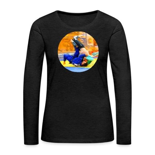 Sumi-gaeshi-Judowurf T-Shirts - Frauen Premium Langarmshirt