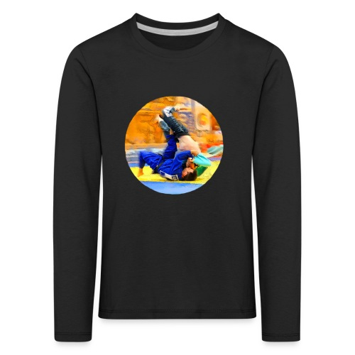 Sumi-gaeshi-Judowurf T-Shirts - Kinder Premium Langarmshirt