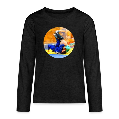 Sumi-gaeshi-Judowurf T-Shirts - Teenager Premium Langarmshirt