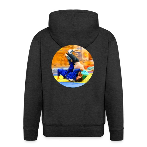 Sumi-gaeshi-Judowurf T-Shirts - Männer Premium Kapuzenjacke