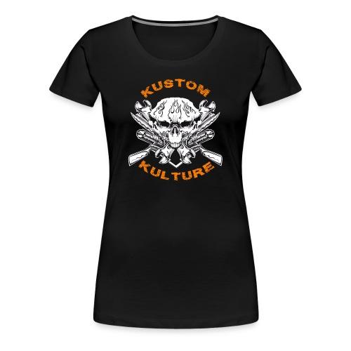 Triple Skull - T-shirt Premium Femme