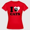 Rood kat - I love cats T-shirts - Vrouwen T-shirt