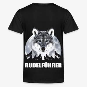 Rudelführer Wolf Vollmond Team Kinder Hoodie - Teenager Premium T-Shirt
