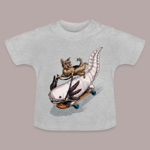 Yorkie and Axolotl - Baby T-Shirt