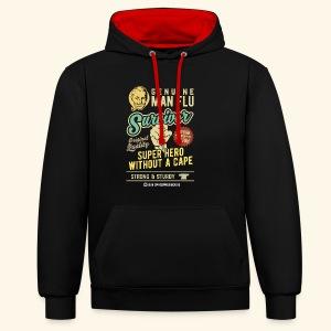 Man Flu Survivor T-Shirts - Kontrast-Hoodie