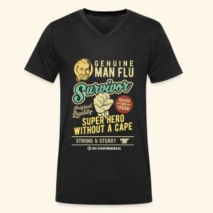 Man Flu Survivor T-Shirts - Männer Bio-T-Shirt mit V-Ausschnitt von Stanley & Stella