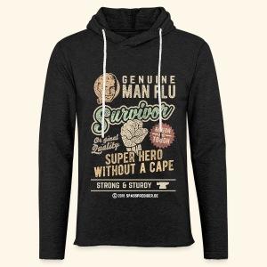 Man Flu Survivor T-Shirts - Leichtes Kapuzensweatshirt Unisex