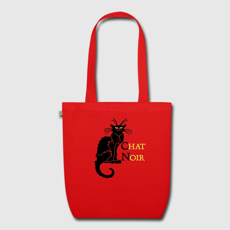 Red chat noir 'n (text, 2c) Bags  - EarthPositive Tote Bag