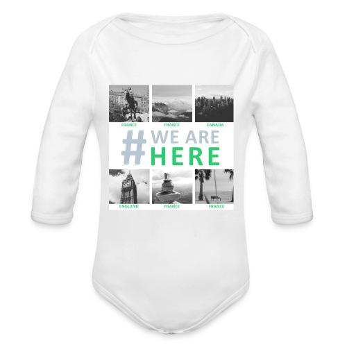 #WE ARE HERE - Ados - Body bébé bio manches longues