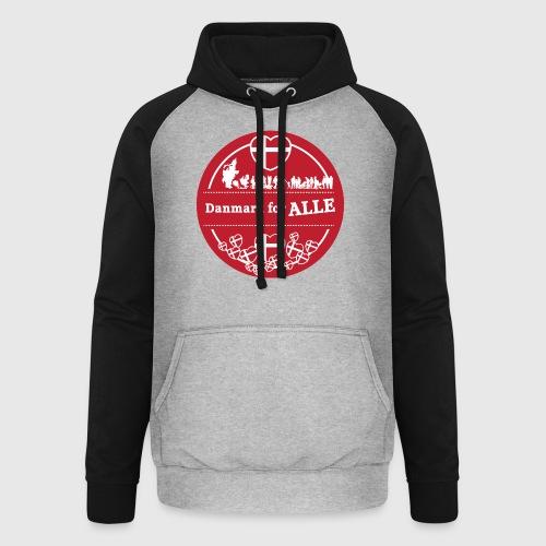 Danmark for ALLE - Unisex baseball hoodie