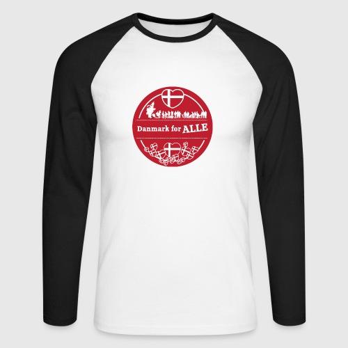 Danmark for ALLE - Langærmet herre-baseballshirt
