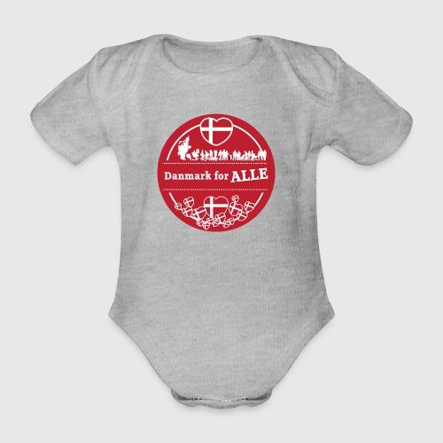 Danmark for ALLE - Kortærmet babybody, økologisk bomuld
