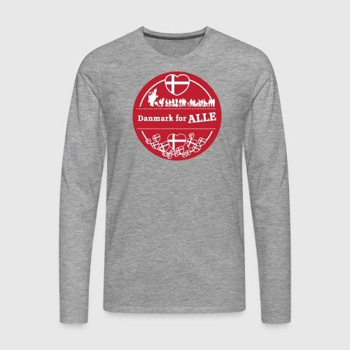 Danmark for ALLE - Herre premium T-shirt med lange ærmer