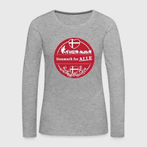 Danmark for ALLE - Dame premium T-shirt med lange ærmer