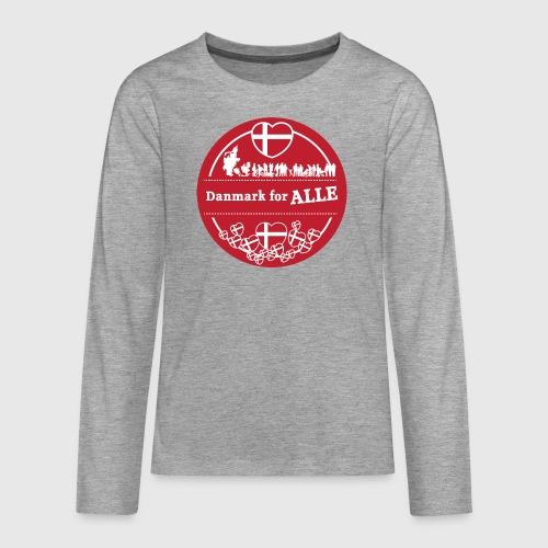 Danmark for ALLE - Teenager premium T-shirt med lange ærmer