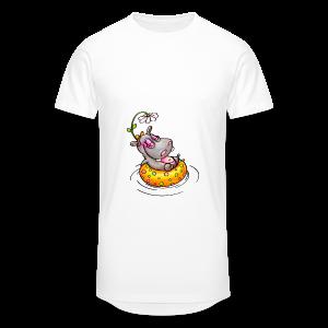 gym bag hippo - Männer Urban Longshirt