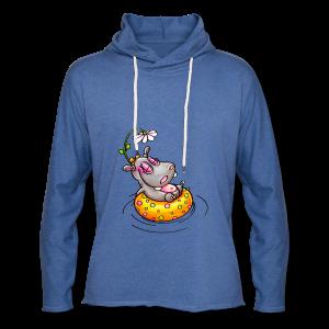 gym bag hippo - Leichtes Kapuzensweatshirt Unisex