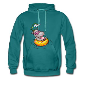 gym bag hippo - Männer Premium Hoodie