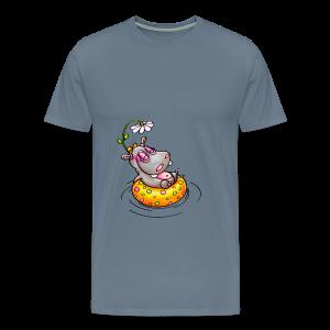 gym bag hippo - Männer Premium T-Shirt