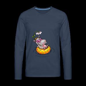gym bag hippo - Männer Premium Langarmshirt