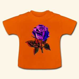 Rose bleue ,rouge, rose  - T-shirt Bébé