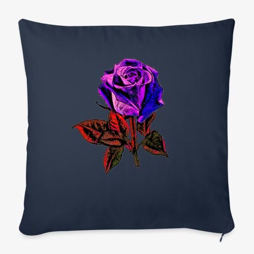 Rose bleue ,rouge, rose  - Housse de coussin décorative 44x 44cm