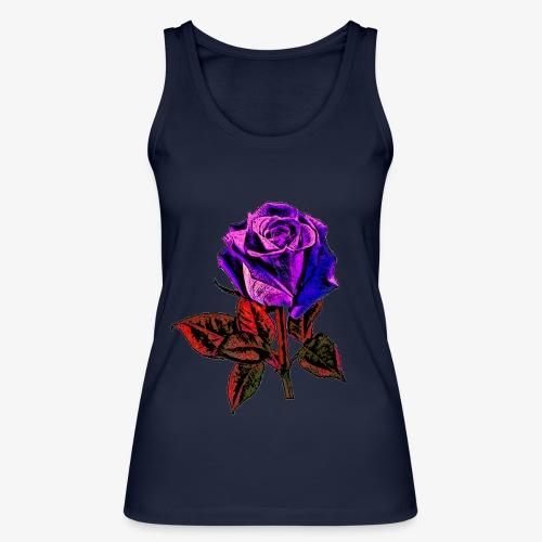 Rose bleue ,rouge, rose  - Débardeur bio Femme