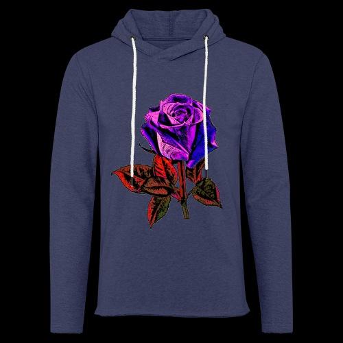 Rose bleue ,rouge, rose  - Sweat-shirt à capuche léger unisexe