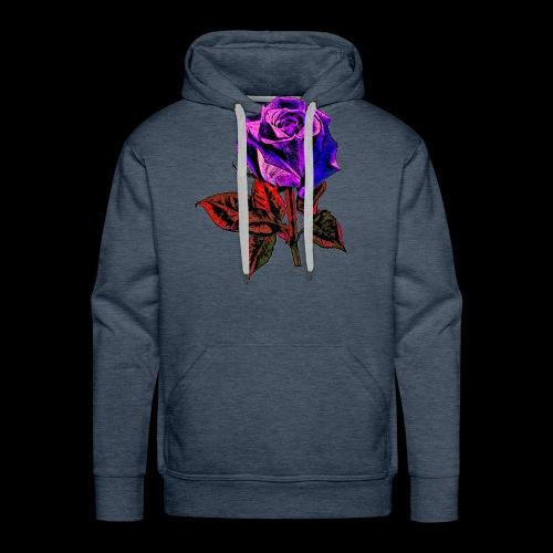 Rose bleue ,rouge, rose  - Sweat-shirt à capuche Premium pour hommes