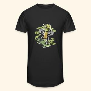Skating Irish Whiskey Bottle T-Shirts - Männer Urban Longshirt