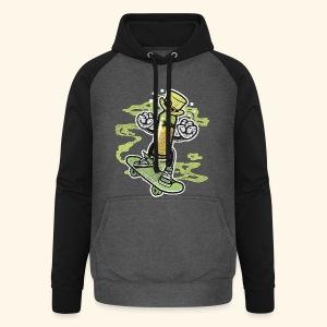 Skating Irish Whiskey Bottle T-Shirts - Unisex Baseball Hoodie