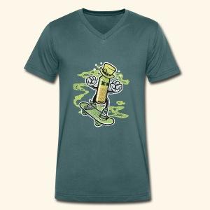 Skating Irish Whiskey Bottle T-Shirts - Männer Bio-T-Shirt mit V-Ausschnitt von Stanley & Stella