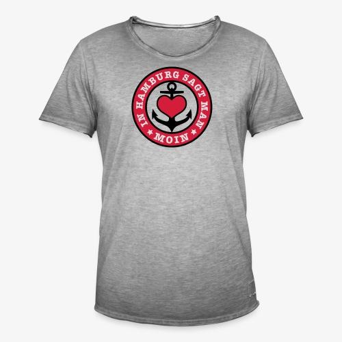 In Hamburg sagt man MOIN Anker Maritim T-Shirt Kinder - Männer Vintage T-Shirt