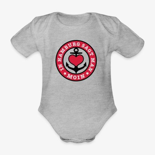 In Hamburg sagt man MOIN Anker Maritim T-Shirt Kinder - Baby Bio-Kurzarm-Body