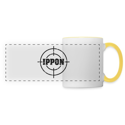 Target Judo-Ippon schwarz Grunge Karsten - Panoramatasse