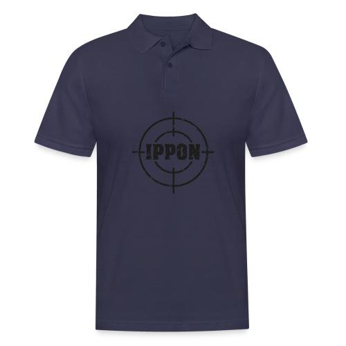 Target Judo-Ippon schwarz Grunge Karsten - Männer Poloshirt