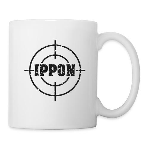 Target Judo-Ippon schwarz Grunge Karsten - Tasse
