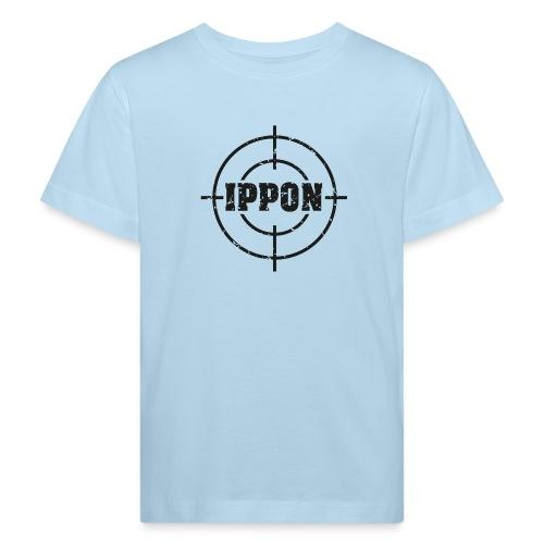 Target Judo-Ippon schwarz Grunge Karsten - Kinder Bio-T-Shirt
