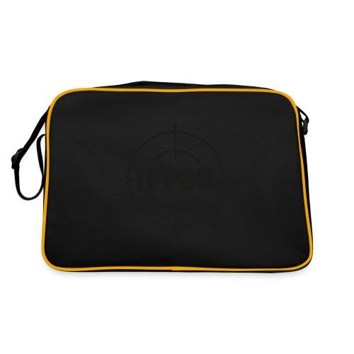 Target Judo-Ippon schwarz Grunge Karsten - Retro Tasche