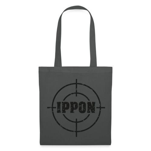 Target Judo-Ippon schwarz Grunge Karsten - Stoffbeutel
