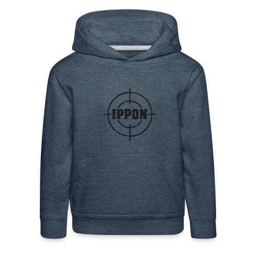 Target Judo-Ippon schwarz Grunge Karsten - Kinder Premium Hoodie