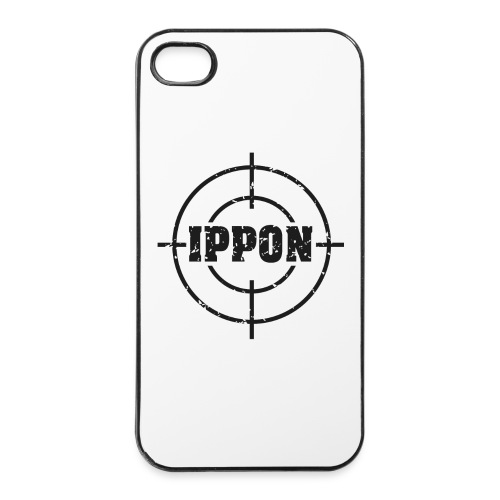 Target Judo-Ippon schwarz Grunge Karsten - iPhone 4/4s Hard Case