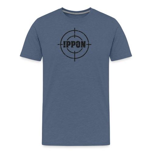 Target Judo-Ippon schwarz Grunge Karsten - Männer Premium T-Shirt