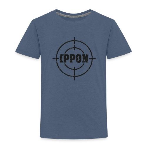 Target Judo-Ippon schwarz Grunge Karsten - Kinder Premium T-Shirt