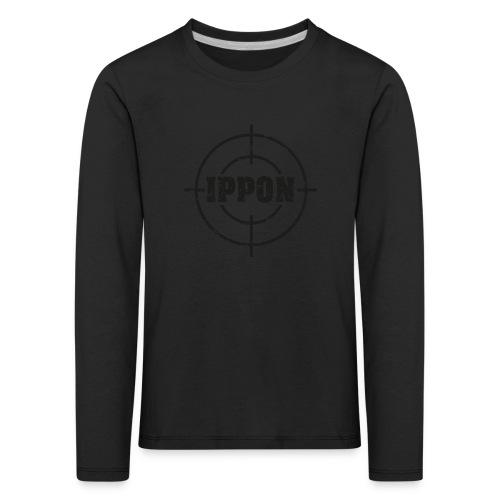 Target Judo-Ippon schwarz Grunge Karsten - Kinder Premium Langarmshirt
