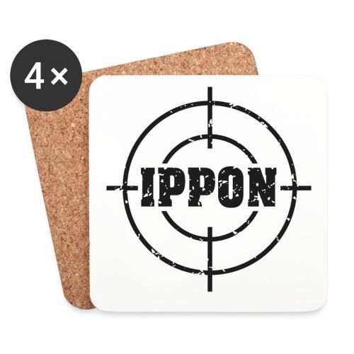 Target Judo-Ippon schwarz Grunge Karsten - Untersetzer (4er-Set)