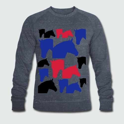 Pferdekopf-Collage-2 - Männer Bio-Sweatshirt von Stanley & Stella
