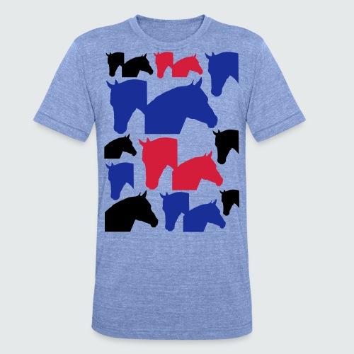Pferdekopf-Collage-2 - Unisex Tri-Blend T-Shirt von Bella + Canvas